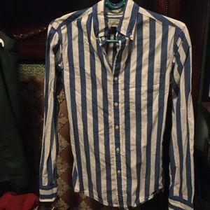 J. Crew bold stripe shirt